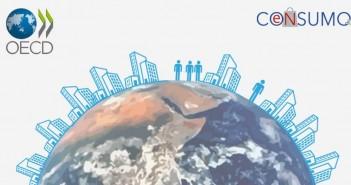 ilustración de ciudad sobre el planeta