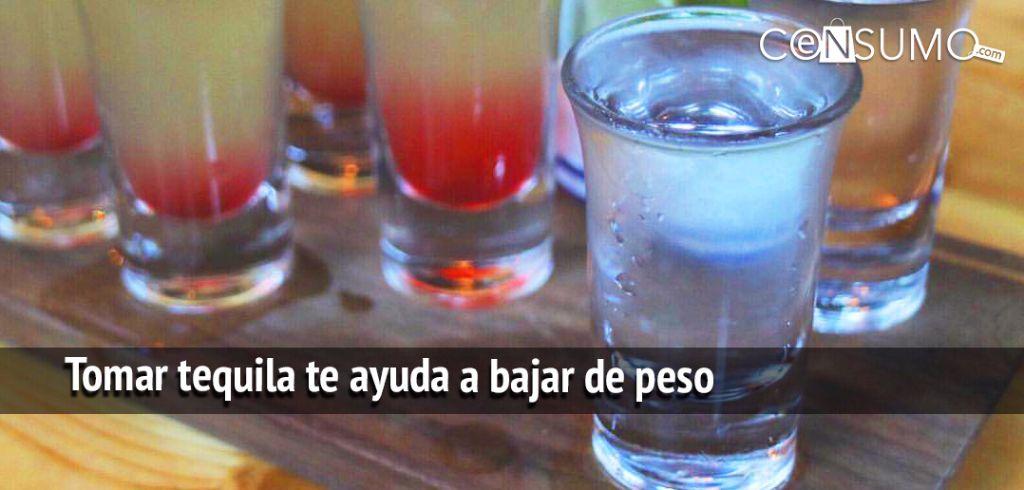 Tomar tequila te ayuda a bajar de peso (bebida para